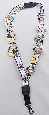 Disney Cruise Line Mickey Minnie Lilo Stitch Donald Goofy 13 Pin Lot and Lanyard