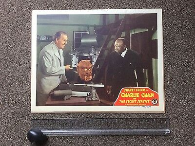 "Vintage Charlie Chan ""The Secret Service"" Sidney Toler movie poster lobby card"
