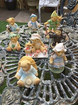 collection of 8 cherished teddies figurines