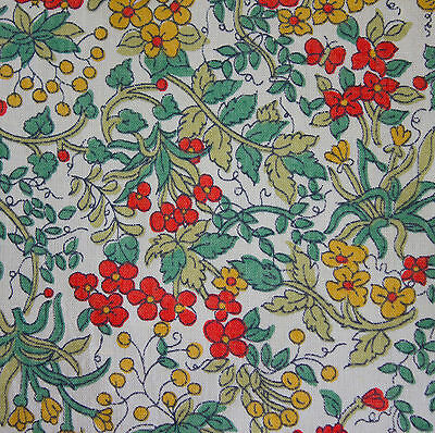 vintage 1970s Liberty tiny floral & berry print tana lawn cotton fabric