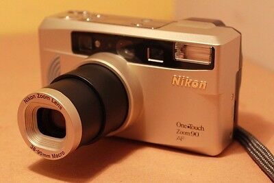 Nikon One Touch Zoom 90 AF QD 35mm Compact Film Camera Tested & Working