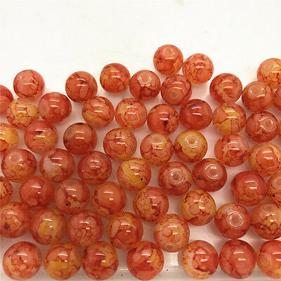 DIY 100 Pcs 4mm Loose Beads Round Spacer Double Colors Glass Jewelry making #34