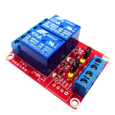 1 piece 24V 2 Channel Relay Module Self-lock Interlock with Optocoupler
