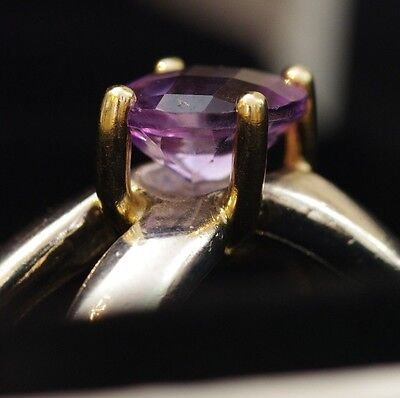Genuine Pandora 190389AM Love Knot Amethyst 14K Gold & Silver Ring - Size52/54