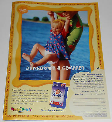 1999 vintage print ad - FIXIES BABY DIAPERS - LITTLE GIRL - GERMANY - 1-PAGE AD