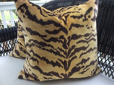 "Scalamandre ""Le Tigre"" 21"" Pillow"