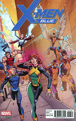 X-MEN BLUE #3 MORA VARIANT 1:25 COVER B Bagged & Boarded NM