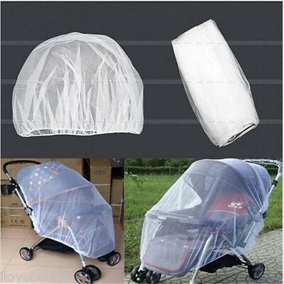Universal Baby Stroller Mosquito Insect Net Cover Fit Pram Bassinet Car Seat WDS