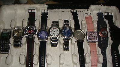 /trade Only Job Lot Of 10 X  Mixed Names  Watches 100% Gen <<</