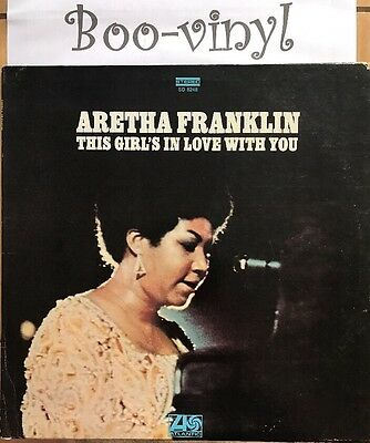 Aretha Franklin this girl's in love with you Uk vinyl Lp  Vg+ Con