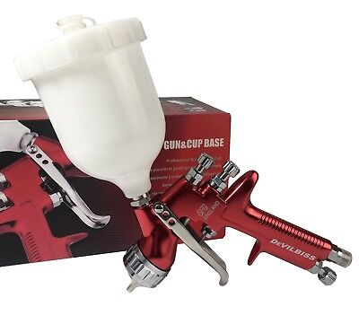 HVLP Devilbiss GFG Spray Gun Professional Car Paint Gun 13mm Nozzle 600ml Pot