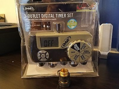 Orbit 3 Outlet Digital WateringTimer Set  with Quick Connect - Never Used