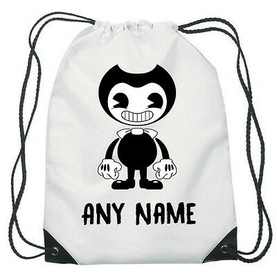 Personalised Bendy and the ink machine Drawstring Pe bag Gym School Dance