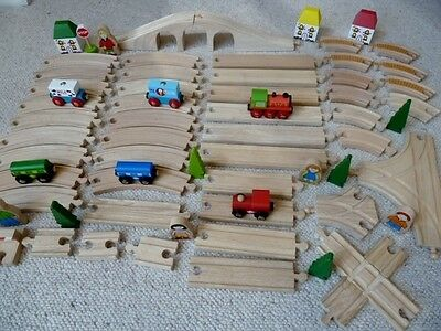 Bundle Of Brio, Elc, Thomas Wooden Train Track, Houses And People