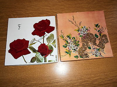 Two Boxes of Vintage Embroidered Ladies Handkerchiefs