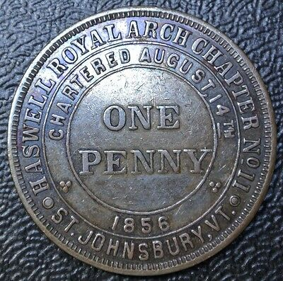 MASONIC CHAPTER PENNY - Pentucket Royal Arch Chapter