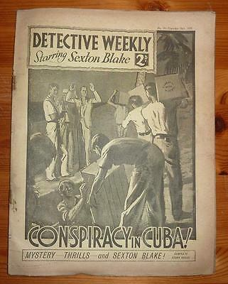 DETECTIVE WEEKLY No 39 18TH NOV 1933 CONSPIRACY IN CUBA! SEXTON BLAKE