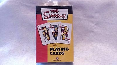 2003 Pack Of The Simpsons Playing Cards Boxed And Still Sealed In Cellophane