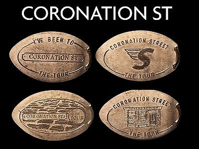 Elongated Coin Pressed Penny Coronation St UK Pennies Retired Machines