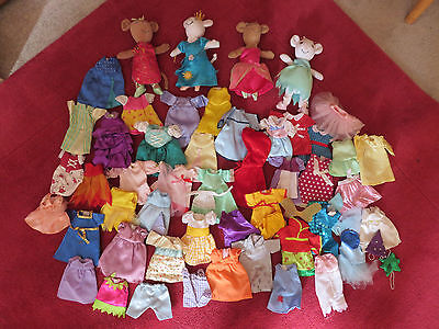 two Angelina Ballerina, two Alice dolls 45+ clothes bundle fairy tales soft toy