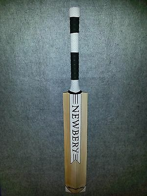 NEWBERY Quantum Player+ Cricket Bat White/Black Size - H,Weight 2.5Lb HammerEdge