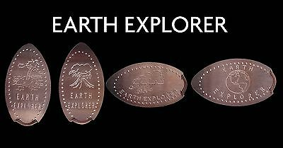 Elongated Coin Pressed Penny Earth Explorer UK Pennies Retired Machines