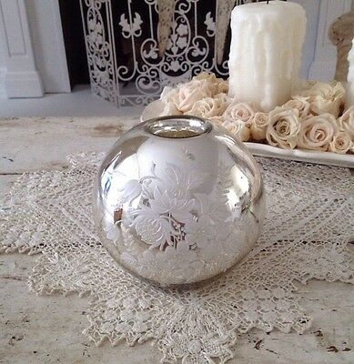 Antique Mercury Glass Candle Holder/Vase