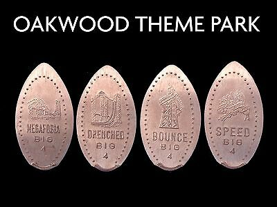 Elongated Coin Pressed Penny Wales Oakwoood theme pk UK Pennies Retired Machines