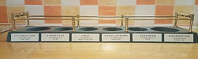 Malt Whisky Labelled  6 Bottle Display Stand For  Bar Pub Home