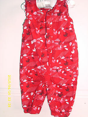 girls marks and spencers play suit in red aged 3/6 months