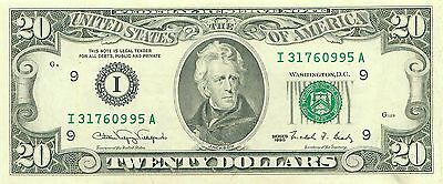 1990 series I/A (MINNEAPOLIS) $20 Dollar Federal Reserve Note Bill