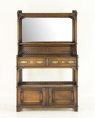 Eastlake Sideboard | Late Victorian Eastlake Mirrored Back Sideboard| B646