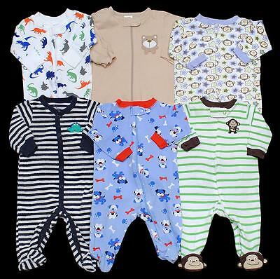 BABY BOY 0-3 months 3 months Carter's SLEEPER PAJAMAS Clothes Lot