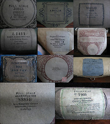 PIANOLA ROLL - piano rolls - JOB LOT of 11