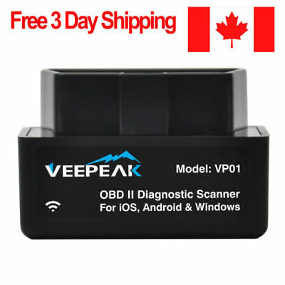 Veepeak WiFi OBD2 Scanner for iPhone iPad Mini OBDII Diagnostic Adapter Car O...