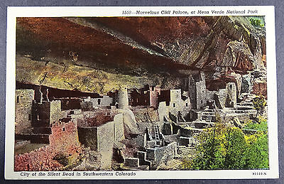 Mesa Verde National Park Cliff Palace City of the Silent Dead Colorado Postcard