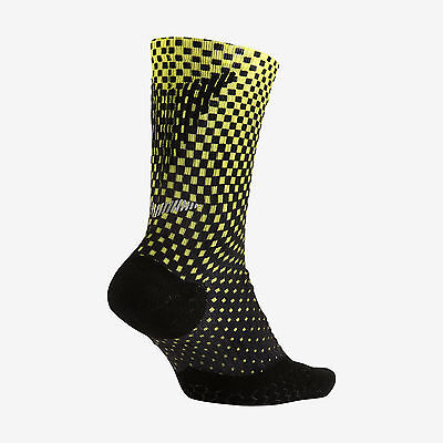 New Nike Elite Digital Ink Cushion Crew Running Socks Size 10-11.5 SX9974-900