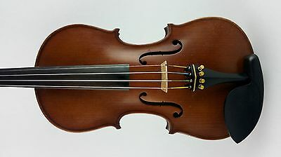 French Violin 100 yr Old Antique with Dark Rich Tone, Strad Copy SOUND SAMPLE