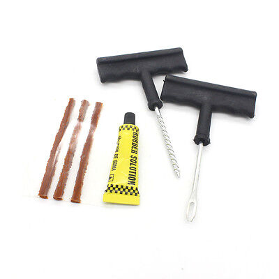 Motorcycle Car Tubeless Tyre Puncture Repair Kit Tire Tool Plug Emergency 1 Set