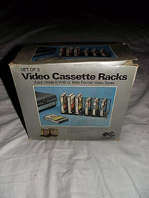 Set Of 2 Boxed Video Cassette Racks by Cambra