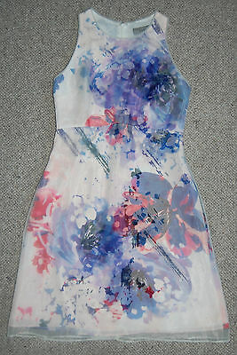 Women's Coast Floral Sleeveless Dress Size 6 Rrp £85