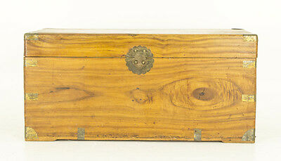 Antique Chest | Wooden Trunk | Camphor Wood | late 19th Cent. Wooden Chest | 677