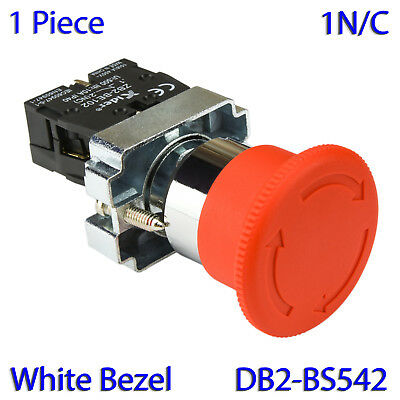 (1 PC) XB2-BS542 RED Mushroom 2NC Emergency Stop Push-button Switch