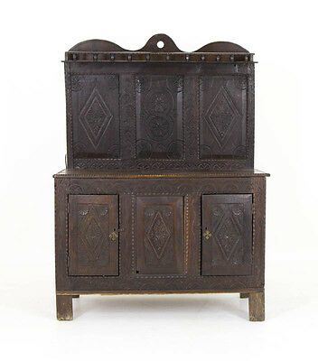 Antique Carved Oak Cabinet | Antique Oak | Scottish Hall Table | B564A
