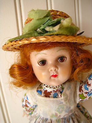 Vintage Vogue Red Hair Ginny Doll Brown Eyes In Tagged Outfit ~ Walker