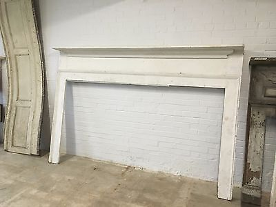 Antique White Farmhouse Mantel Oversized from 1800's