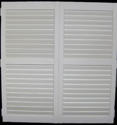 Plantation Shutters Timber with Mid Rail/Clearview Operation White 1240mm Wide