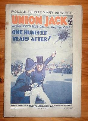 UNION JACK No 1336 25TH MAY 1929 ONE HUNDRED YEARS AFTER! SETON BLAKE