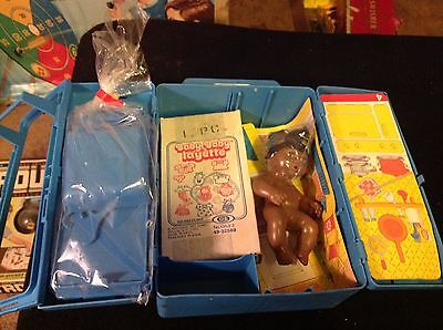 Vintage 1970s baby baby Layette play set with case very  rare. New