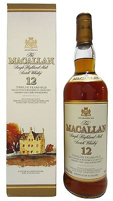 Macallan - Single Highland Malt (Old Bottling) 12 year old  Whisky